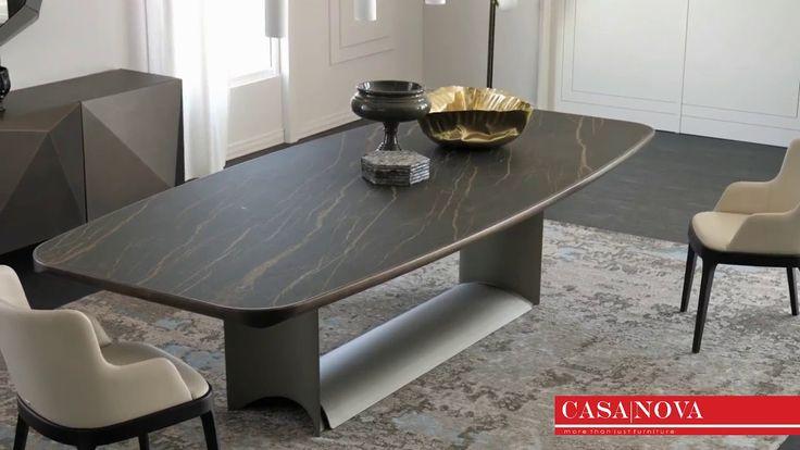 Casanova Furniture Dubai Dragon, Sarah Extending Glass Dining Table With 6 Romeo Chairs