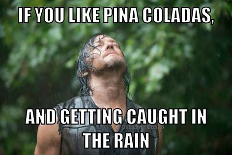 If you like piña coladas and getting caught in the rain - meme - The Walking Dead