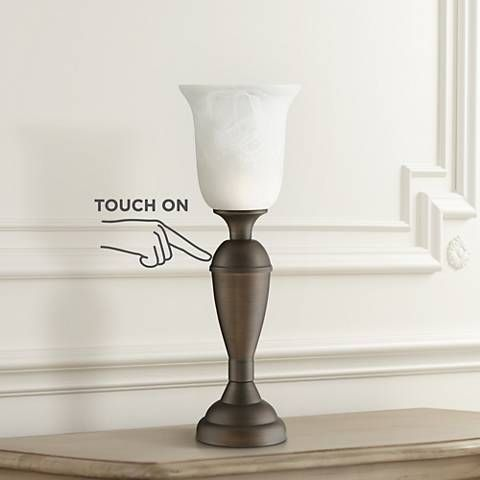 "Uplight 20"" High Bronze Finish Touch On-Off Table Lamp"