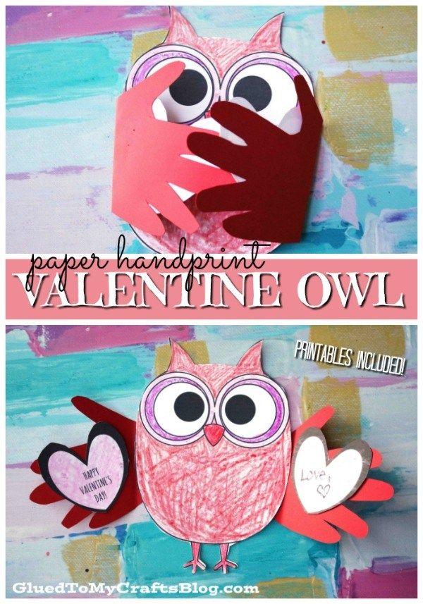 valentine owl craft free preschool crafts - 600×857