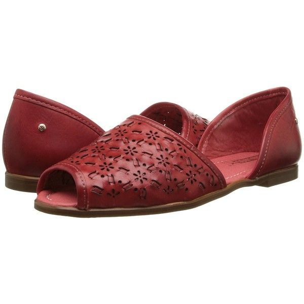 Pikolinos Menorca W5B-CO1527 Women's Shoes, Red ($83) ❤ liked on Polyvore featuring shoes, sandals, red, slip on shoes, red shoes, synthetic shoes, cut-out shoes und cutout sandals
