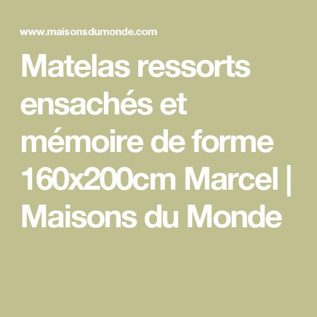 Matelas ressorts ensachés et mémoire de forme 160x200cm Marcel   Maisons du Monde
