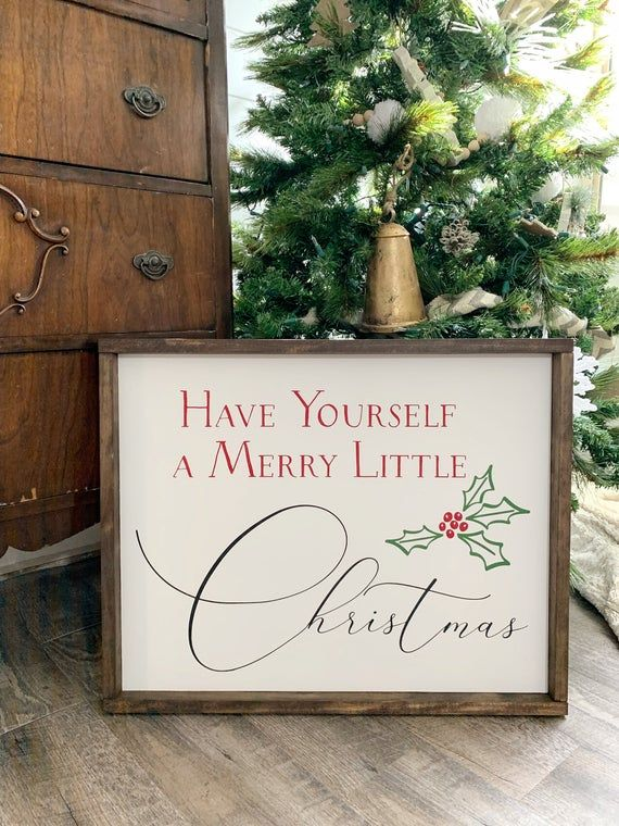 Have Yourself A Merry Little Christmas Wood Sign Wood Bead Etsy In 2020 Christmas Signs Wood Holiday Wood Sign Christmas Wooden Signs