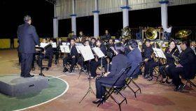 Banda de Música de la UABJO participa en Macro concierto en la Sierra Mixe