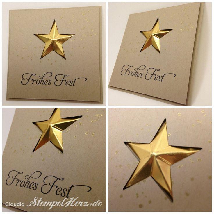 Stampin Up - Stempelherz - Weihnachtskarte - Stern - Frohes Fest - Wunderbare Weihnachtsgrüße Collage