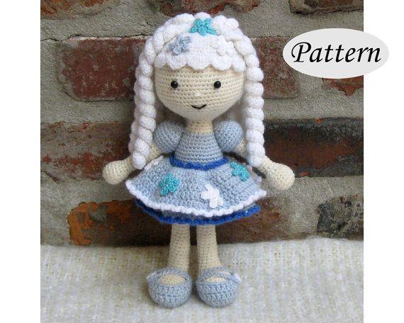 PATTERN  Snowflake Winter Girl Doll  Amigurumi by CrochetCuteDolls