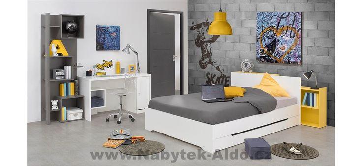 Studentský pokoj s moderním nábytkem