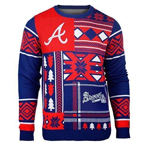 MLB Atlanta Braves Patches Ugly Sweater, Red, Medium by Klew. MLB Atlanta Braves Patches Ugly Sweater, Red, Medium. Medium.
