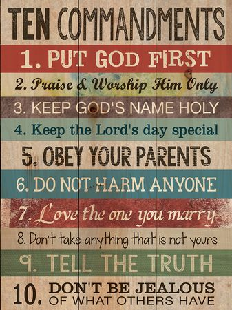 17 Best images about 10 commandments on Pinterest | Canvas ...