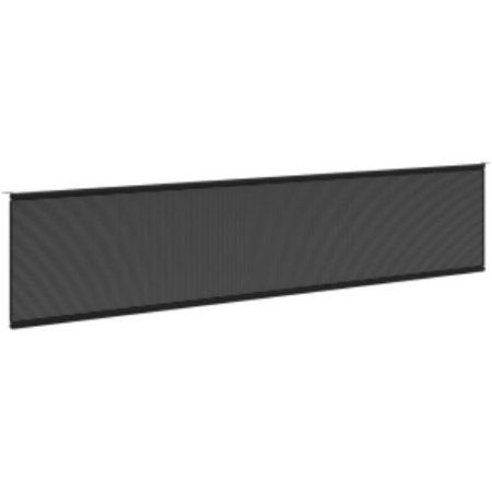 Basyx By Hon Multipurpose Table Modesty Panel - 60.5 inch Width X 0.6 inch Depth X 10 inch Height - Fabric, Steel - Black (bmpt72mod), Multicolor