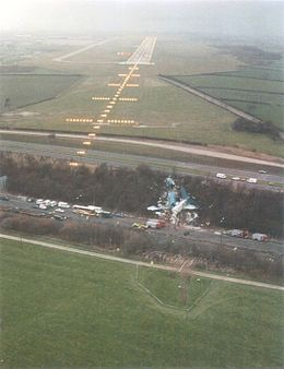 1989 ♦ January 8 – British Midland Flight 92, a Boeing 737, crashes near Kegworth, Leicestershire, United Kingdom, after one of its engines loses a fan blade and fails. Of the 118 passengers and 8 crew, 79 survive. The incident became known as the Kegworth air disaster and is the first loss of a Boeing 737-400.