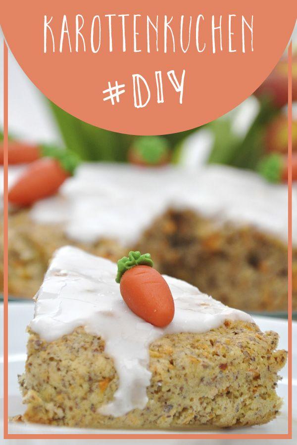 Karottenkuchen - einfaches Rezept.