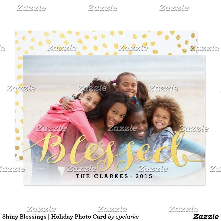Shiny Blessings | Holiday Photo Card