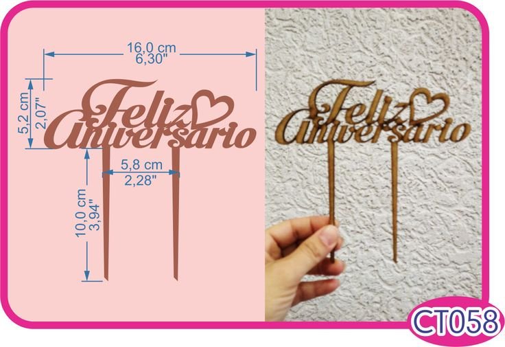 Feliz Aniversario Cake Topper. -Pedidos/InquirIes to: crearcjs@gmail.com
