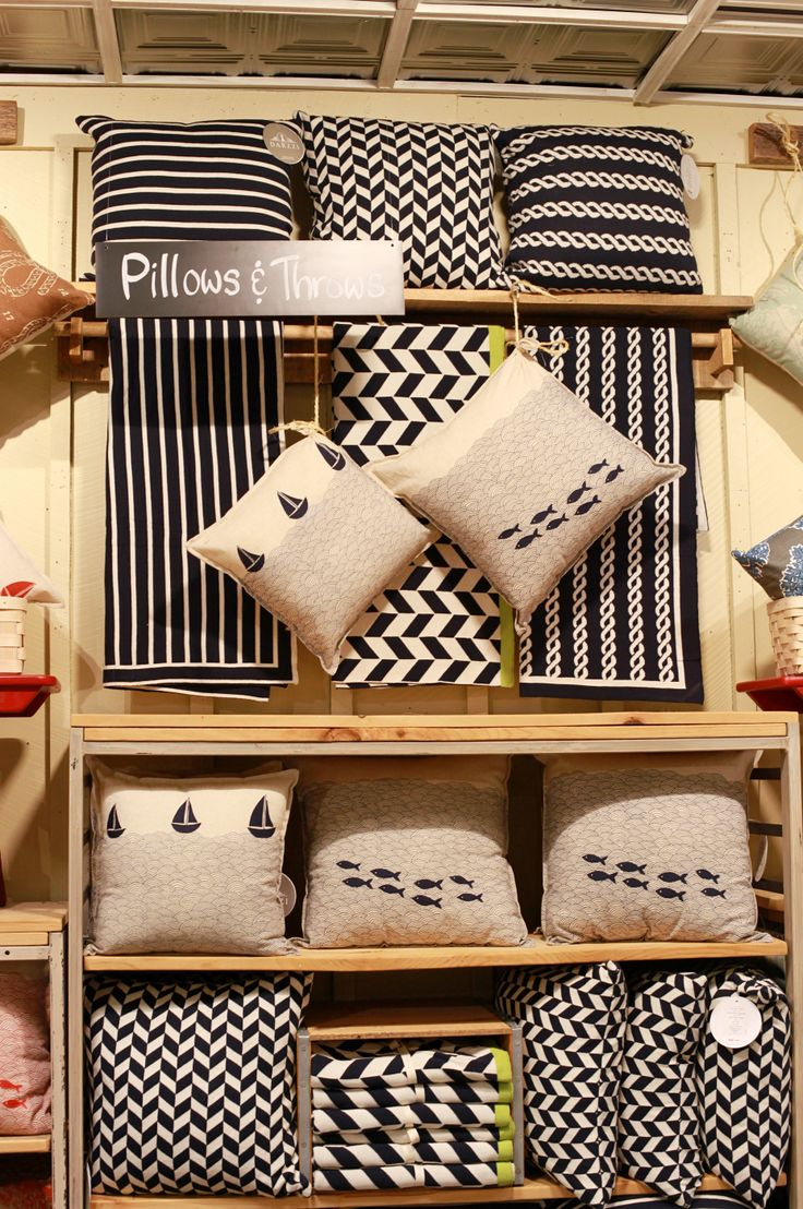 New nautical pillows and throws at the  LLBean HOME store   Freeport  Maine. 23 best images about L L Bean HOME store on Pinterest   Seasons