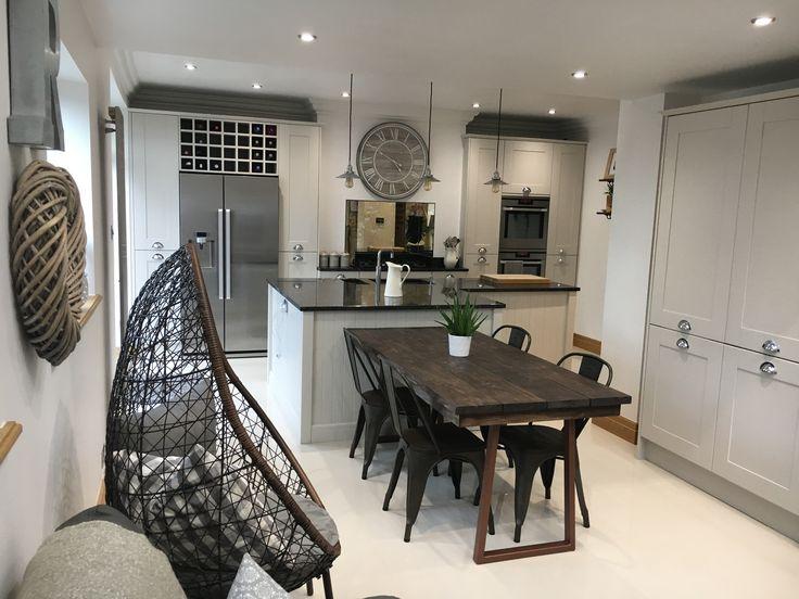 Best Kitchen Diner Farrow And Ball Cornforth White Units Wevet 400 x 300