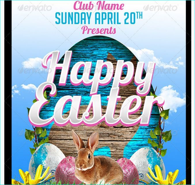 Best Easter Party Flyer Template Images On   Easter