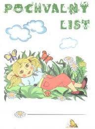 Výsledek obrázku pro pochvalný list pro děti