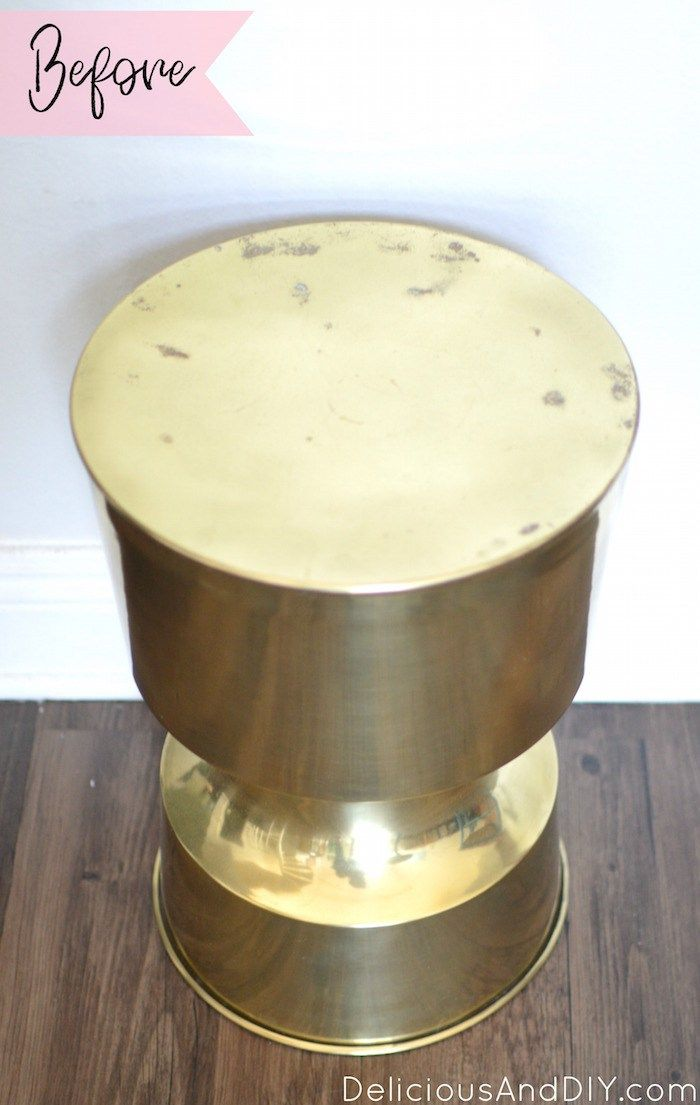 Palm Leaf Table| Palm Leaf Furniture| Modge Podge Projects| Gold Table Decor| Ho...
