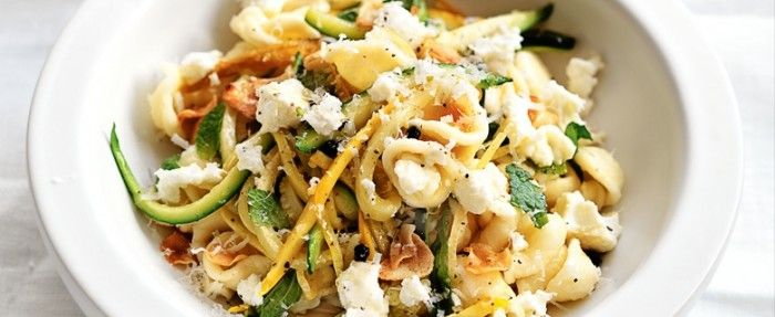 Zucchini Pasta with Lemon, Mint and Persian Feta | In Season: Autumn | MiNDFOOD