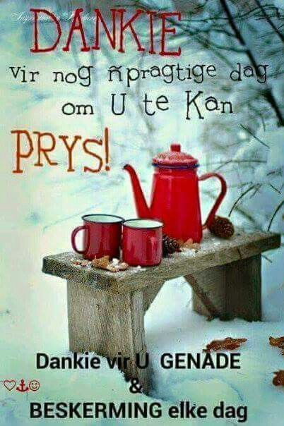 Dankbaarheid/Dankgebed #Afrikaans #ThankYou #Prayer