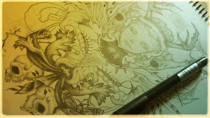 """Work in progress This work belongs to a series of illustrations entitled """"Cycles"""" By Vito Rodriguez Christensen"""