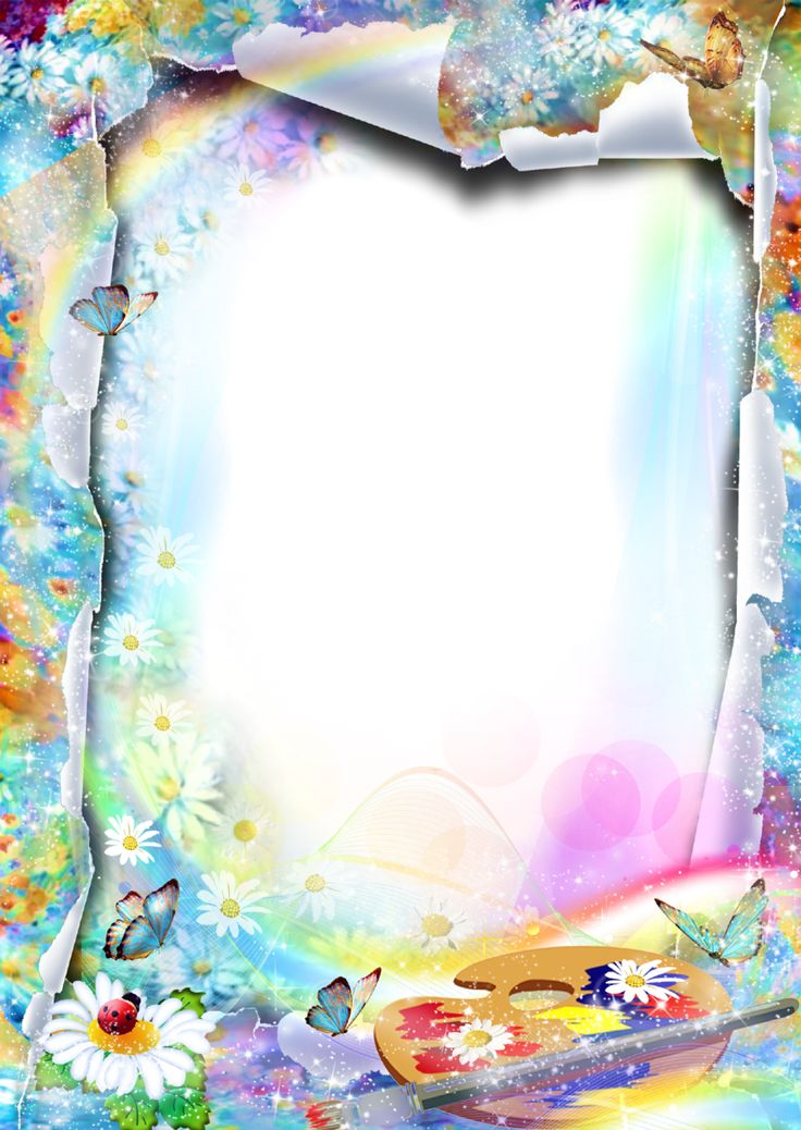 Flower Photo Frame - Summer Paints