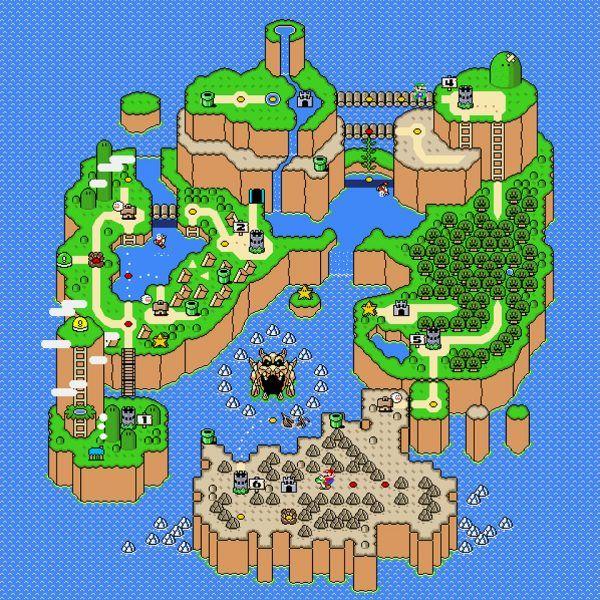 Super Mario World Map Super Mario World Map Poster – Nerdemia | Super mario wallpaper
