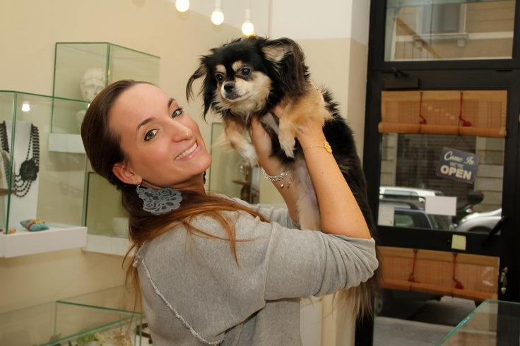 Minnie is our super cute oversize chihuahua who loves greeting every client when they come into our boutique