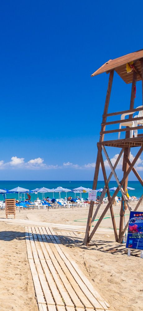 Relaxation on the beach No3: Platanes in Rethymno, Crete
