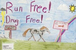 dare drug poster ideas young artists treated to lunch