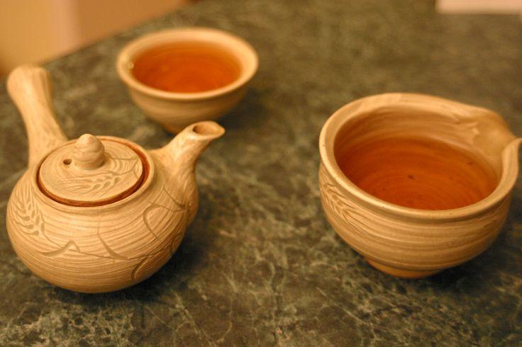 Handmade tea set. Oh. Yeah.