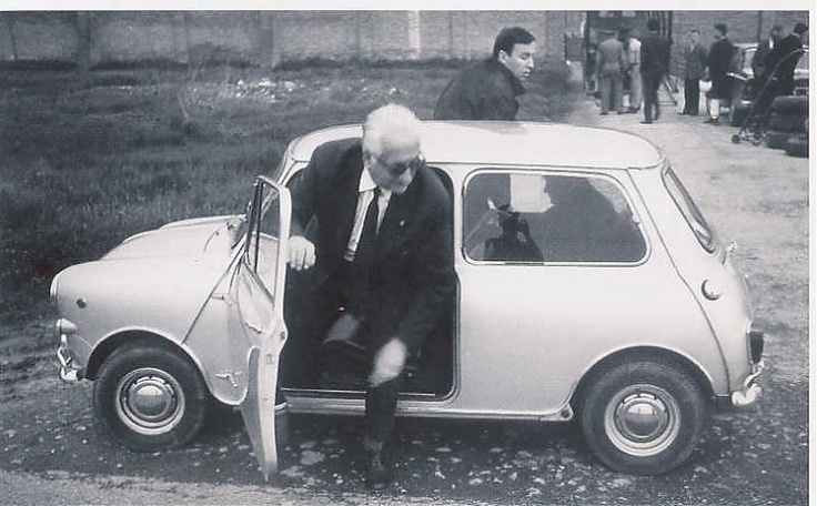 "MINI, always uniting the best things together :) (Enzo Ferrari and his. Classic Cooper""S"")"