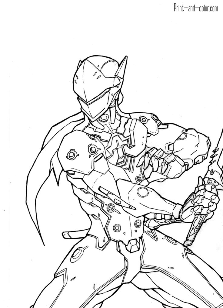 Overwatch coloring pages Print