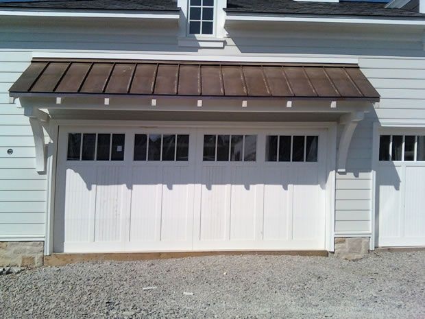 brackets over garage door, can do this with a copper roof?