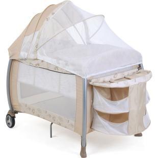 Berço Dobrável Portátil Burigotto Amore Fantasy Beige.    Acompanha bolsa para transporte.    Fácil de montar e desmontar, excelente para viagen.