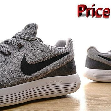 new product 466ed ffb44 sneaker unisex Nike LunarEpic Low Flyknit 2 Trainers 2017 Wolf Grey Pure  Platinum Volt White shoes