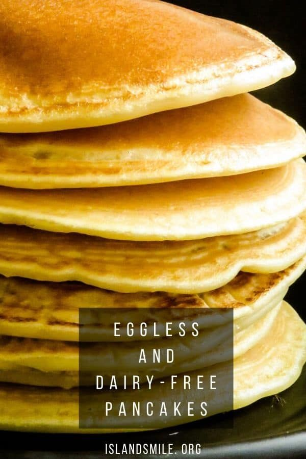 How To Make Fluffy Pancakes Without Milk Or Eggs Dairy Free Island Smile Recipe Baking Powder Uses Recipes Dairy Free Pancakes