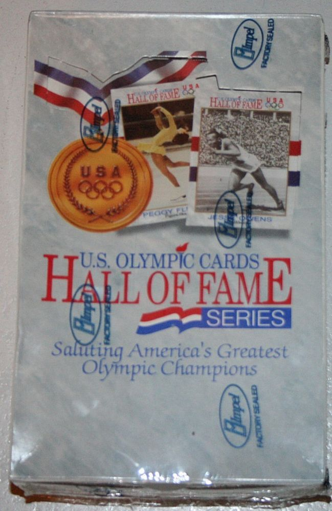 Vintage 1991 NEW SEALED BOX of U.S. SUMMER OLYMPIC CARDS HALL OF FAME SERIES-USA #USA
