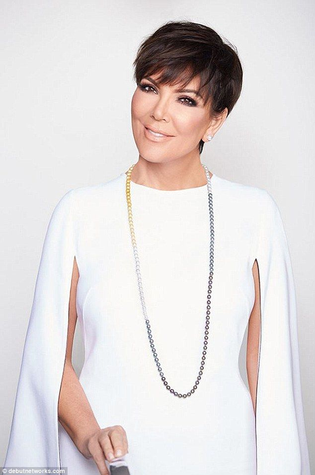 Pearl girl: Kris Jenner debuted her first jewelry line yesterday, called Kris Jenner Signature Collection