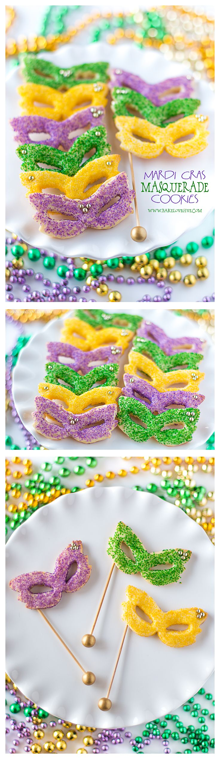 Celebrate Carnival with Mardi Gras Masquerade Sugar Cookies