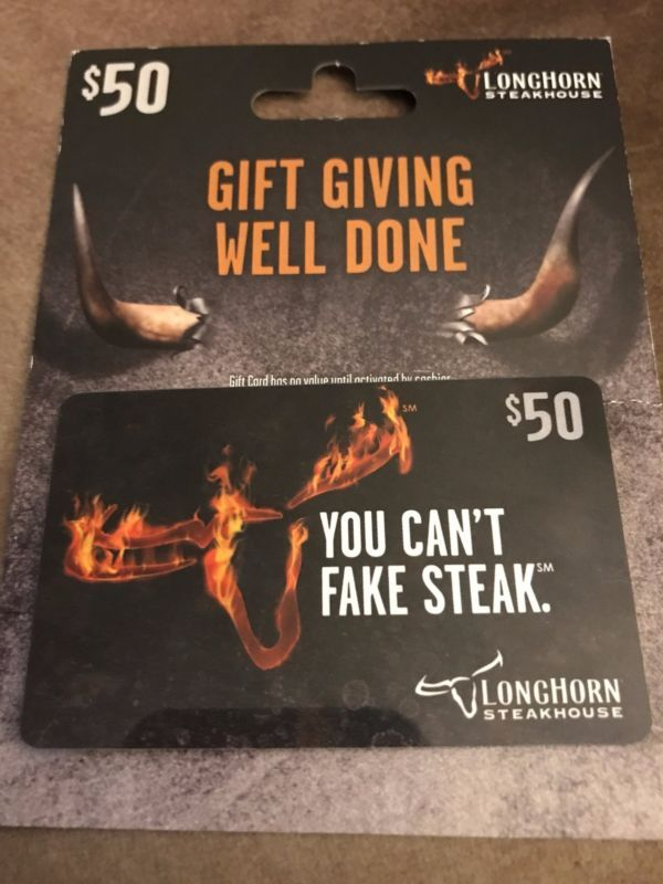 I have a $50 Longhorn Steakhouse gift card for sale Thanks for looking and Happy Bidding Paypal Only and Ships To United States Only #card #gift #steakhouse #longhorn