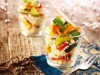couscous #amuse #salade #paprika #augurk #koriander