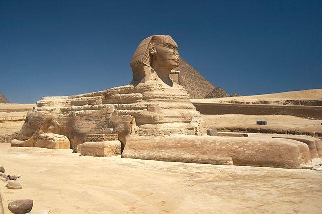Lo que hay que saber sobre el arte egipcio: Foto de la Gran Esfinge de Guiza en Egipto.