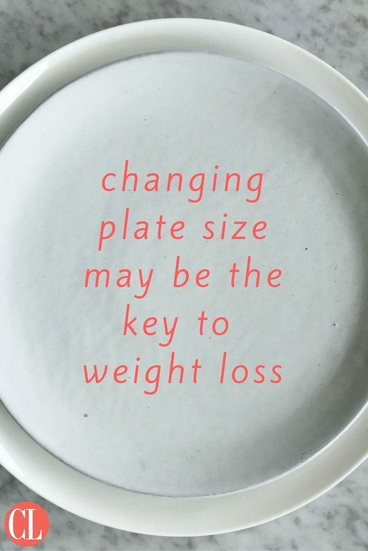 Having a dinner filled with a healthy variety of foods might not help your weight-loss journey if they're piled on the wrong-sized plate. America's ever-increasing plate size may be contributing towards weight gain, but the good news is that cha