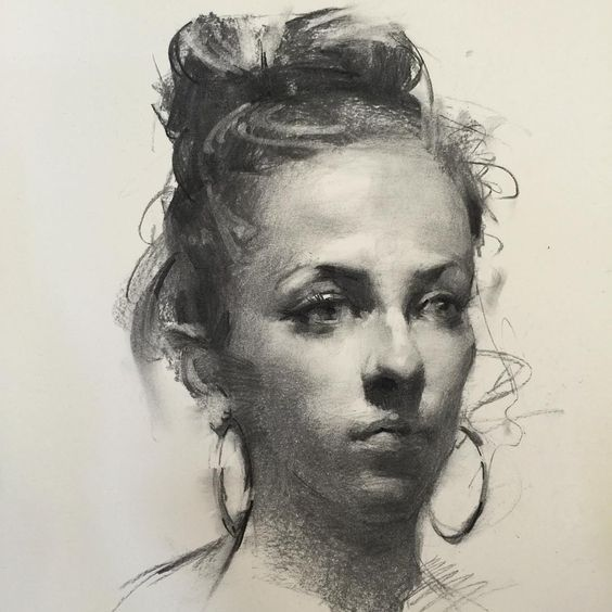 Our Essence Captured in Charcoal Portrait Drawings. By Zhaoming Wu.