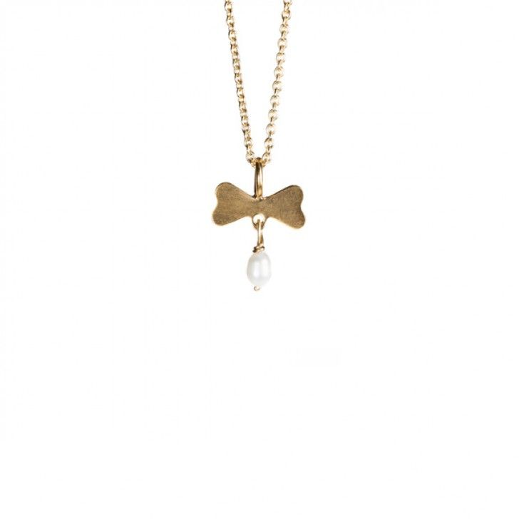 Necklace BOW & PEARLS *Týché Gold