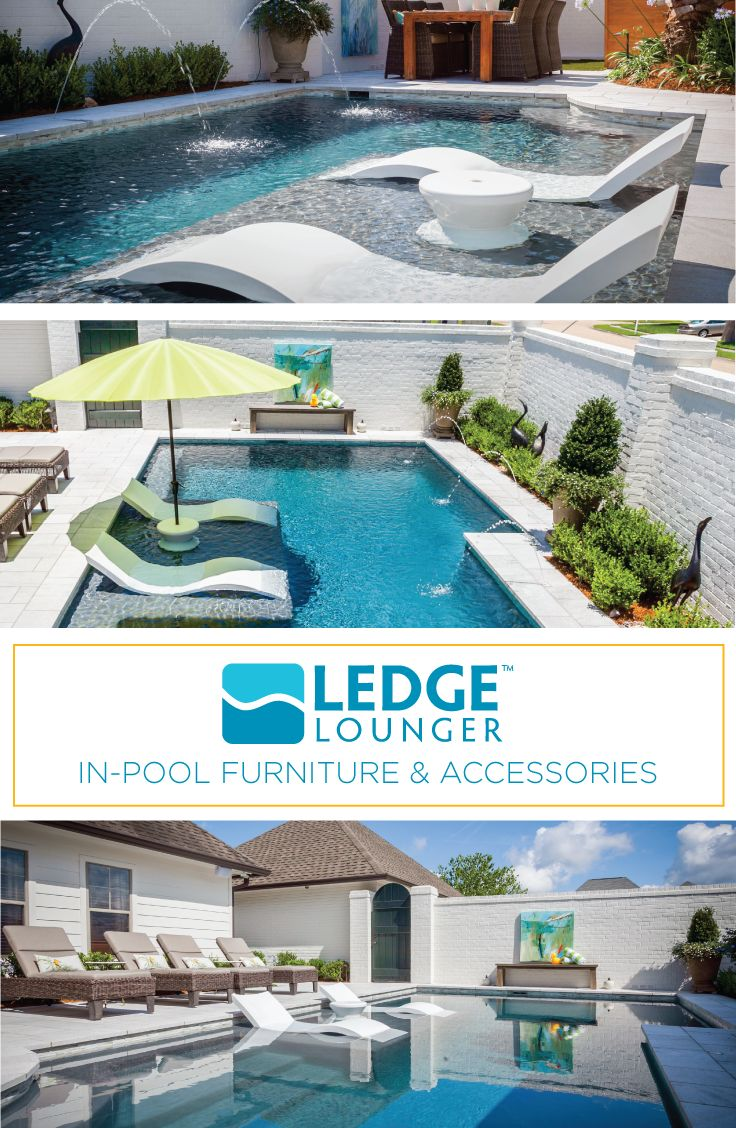 Ledge Lounger In Pool Furniture Is Designed For In Water Use On Your Poolu0027s  Tanning