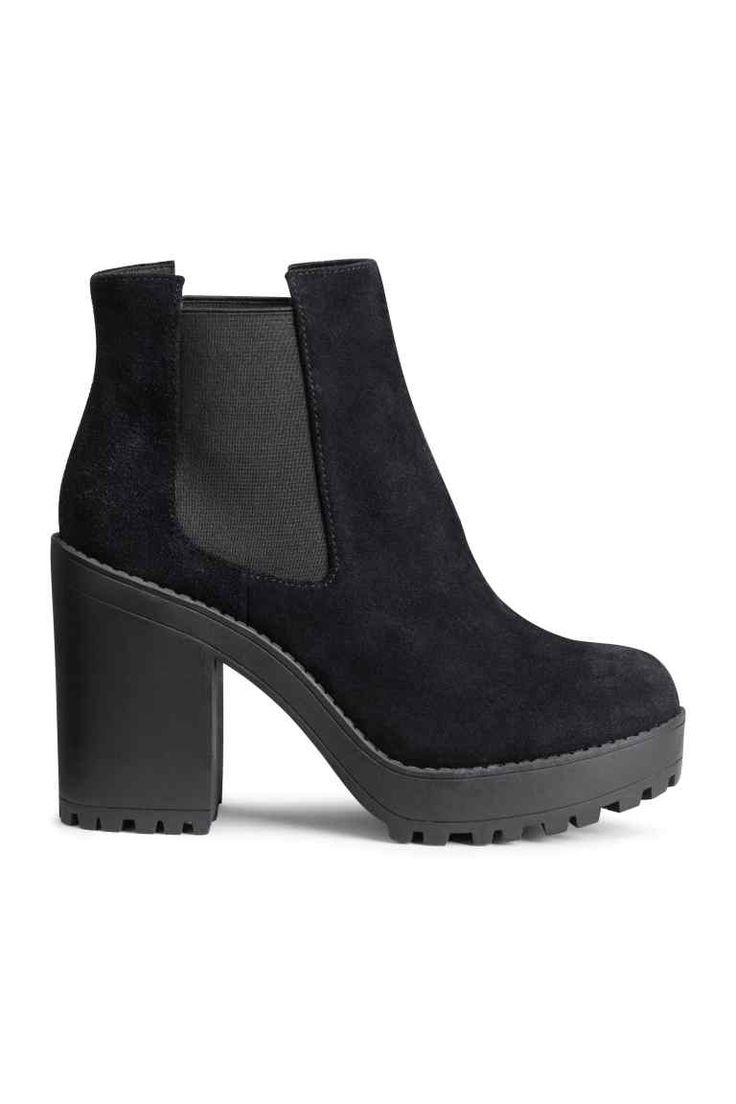 Botas de ante con plataforma | H&M