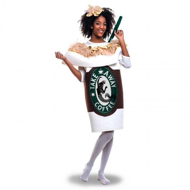 Disfraz de Taza Café Starbucks adulto #disfraces #carnaval #novedades2017